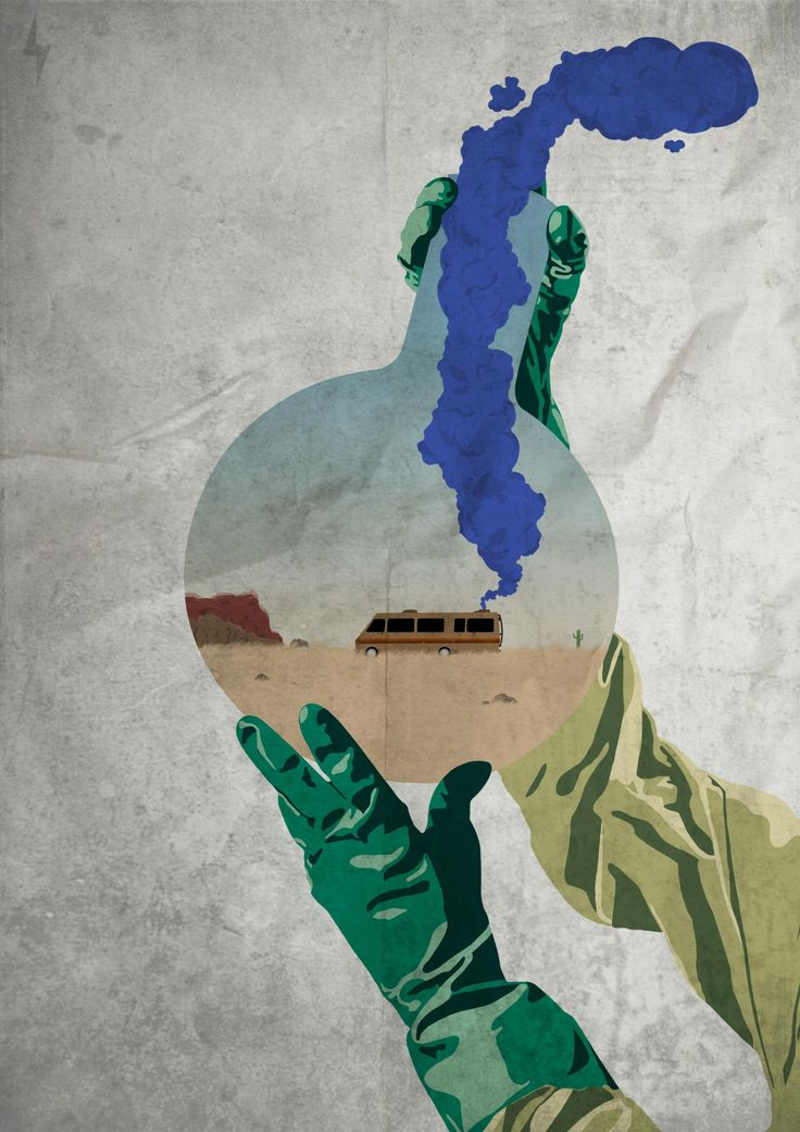 Alternate version of Patlon's Breaking Bad poster on Reddit.