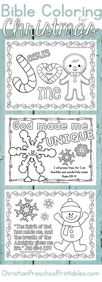 Christmas Bible Coloring Pages.  A great set of free christian coloring pages and bible verse activities for little ones.  Includes suggested book accompaniments. http://thecraftyclassroom.com/2015/11/20/christmas-bible-coloring-pages/