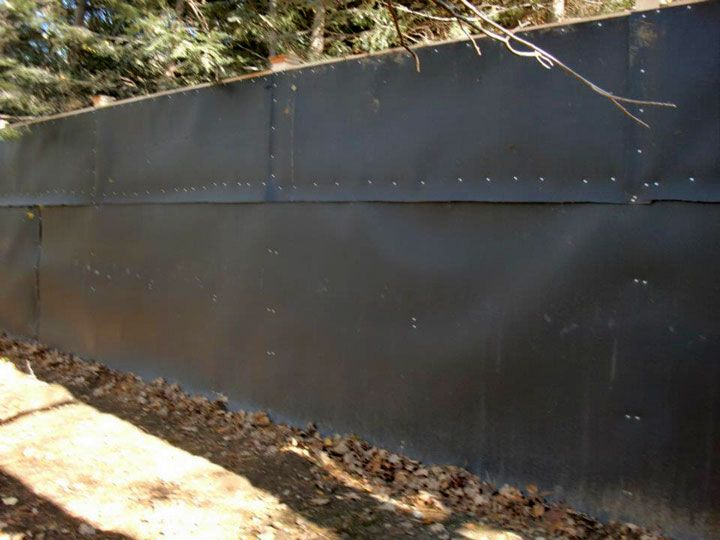 Acoustifence Soundproofing Installed in Residential Yard  Acoustic  PanelsYardsPatio23 best Apartment Soundproofing images on Pinterest   Acoustic  . Exterior Soundproofing. Home Design Ideas
