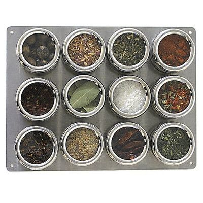 Keep spices visible, yet organized, with this steel board. | $100