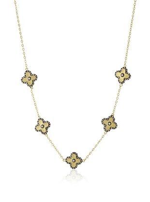 67% OFF Belargo Clover Station Necklace