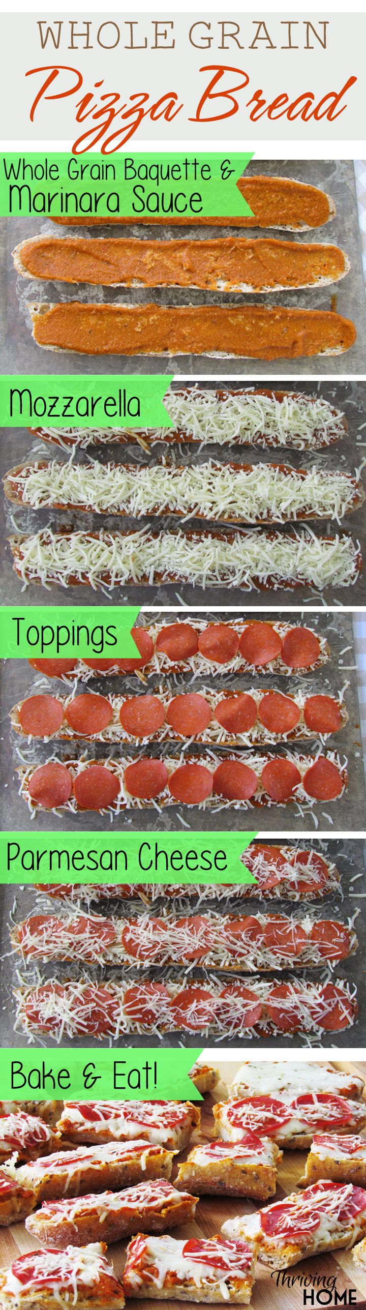 These whole grain pizzas are filled with simple ingredients, require minimal effort, and are a kid favorite! Make some today.