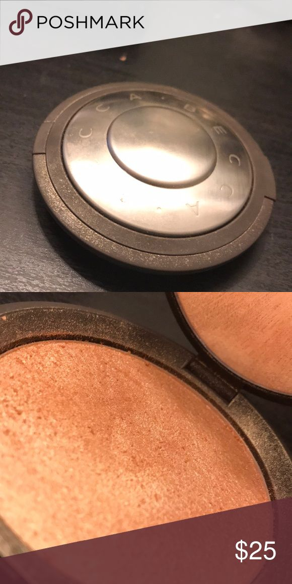 BECCA OPAL HIGHLIGHTER (POWDER) Gently used only a few times, but it's been sanitized! tarte Makeup Luminizer