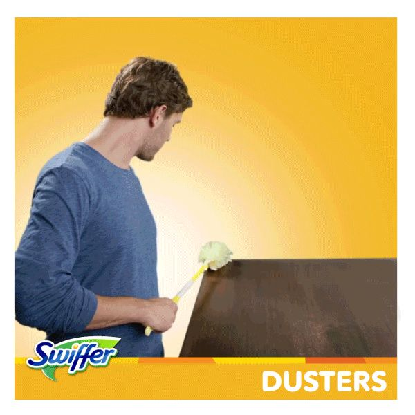 Trap & lock dirt, dust, and hair. With Dust Lock Adhesive™ and 2X more fibers, Swiffer® 360º Dusters™ can clean deep into those hard-to-reach places. *vs. Swiffer 180 Dusters