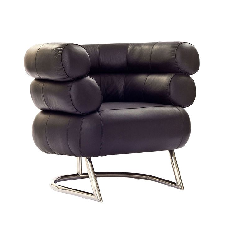 Great With Its Tubular Steel Strength, Plush Cushions, And Leather Upholstery,  You Have A Retro Inspired Armchair Thatu0027s As Unique As It Is Functional.