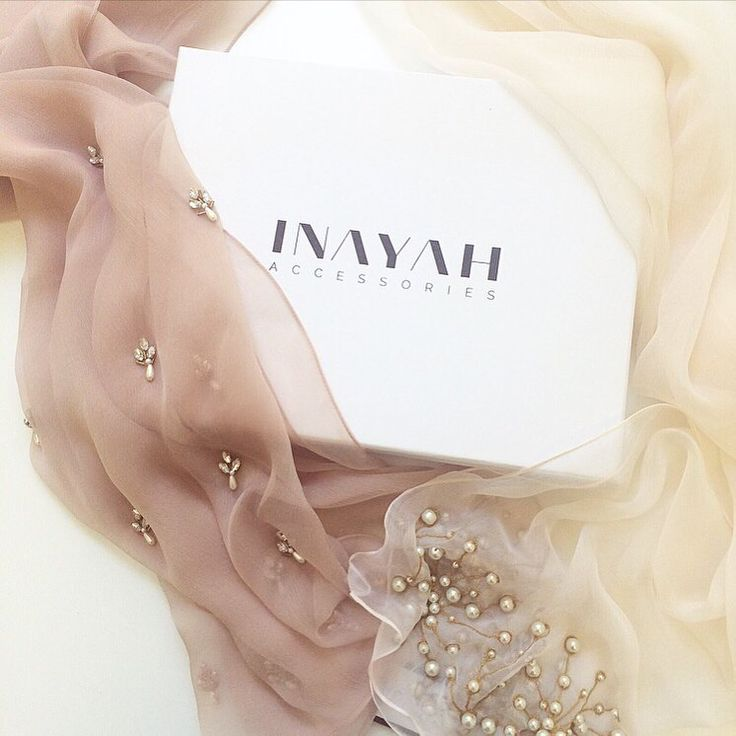 INAYAH | Our dreamy selection of hand embroidered #Hijabs, make a luxurious finishing touch to occasional dressing.