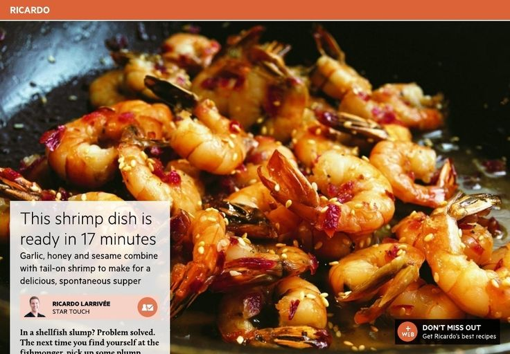 Garlic, honey and sesame combine with tail-on shrimp to make for a delicious, spontaneous supper