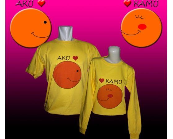 Kaos Couple : Aku Love Kamu - Jual kaos couple, kaos custom, kaos anak, kaos dewasa, kaos souvenir ulang tahun, kaos event, dll SMS / WA : 087880741923, PIN BB : 228CCF29