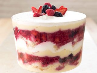 Summer Berry Trifle - Cooks Illustrated ~ Trifles usually look a lot better than they taste because busy cooks simplify the complicated preparation by subbing in pre-made or instant components. In this recipe, the components are streamlined so that the entire trifle can be made from scratch.