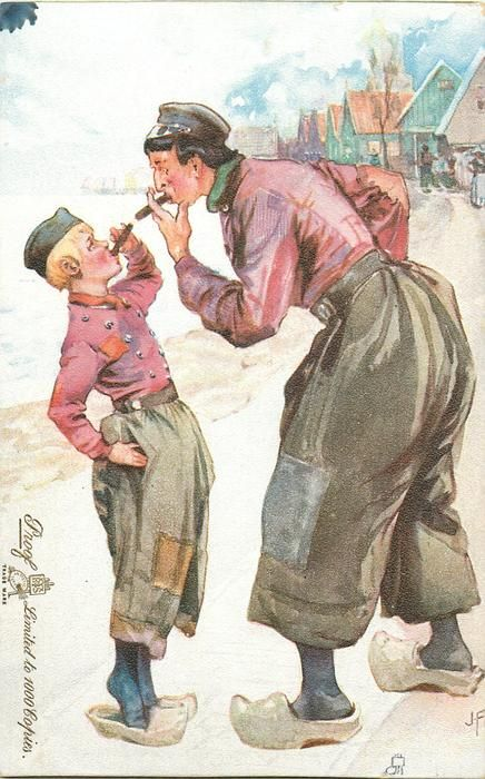 2636 - Set of 6, PEASANT - LIFE IN HOLLAND, J. Finnemore - 1904
