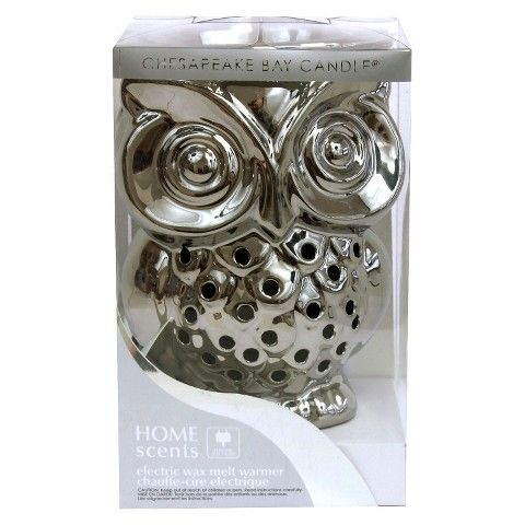 electric warmer owl silver wax melt