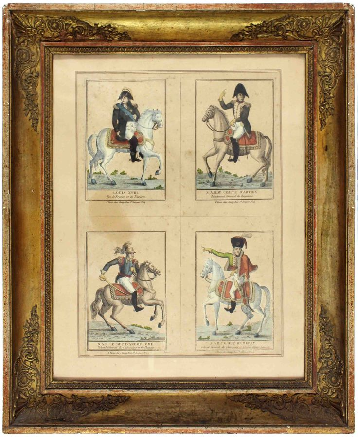 Bourbons depicted in these colourful drawings. #kinks #princes #nobility