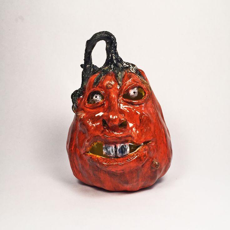 Awesome Halloween Pumpkin Ceramic Jack o'lantern-Cool Funny Expression
