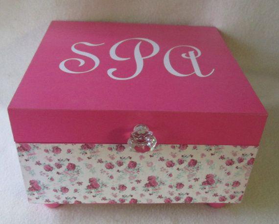 Large Keepsake Box   Memory Box  Rose Keepsake Box  by msw2011