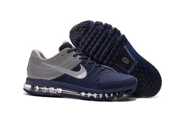 Original Nike Air Max 2017 Men Dark Blue Grey KPU Discount Shop - $68.99
