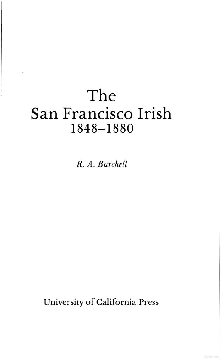 The San Francisco Irish, 1848-1880