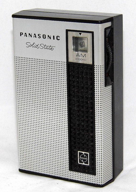 Vintage Panasonic Model R-1038 Solid State 7-Transistor Radio, Broadcast Band Only (MW), Made In Japan, Circa 1968.