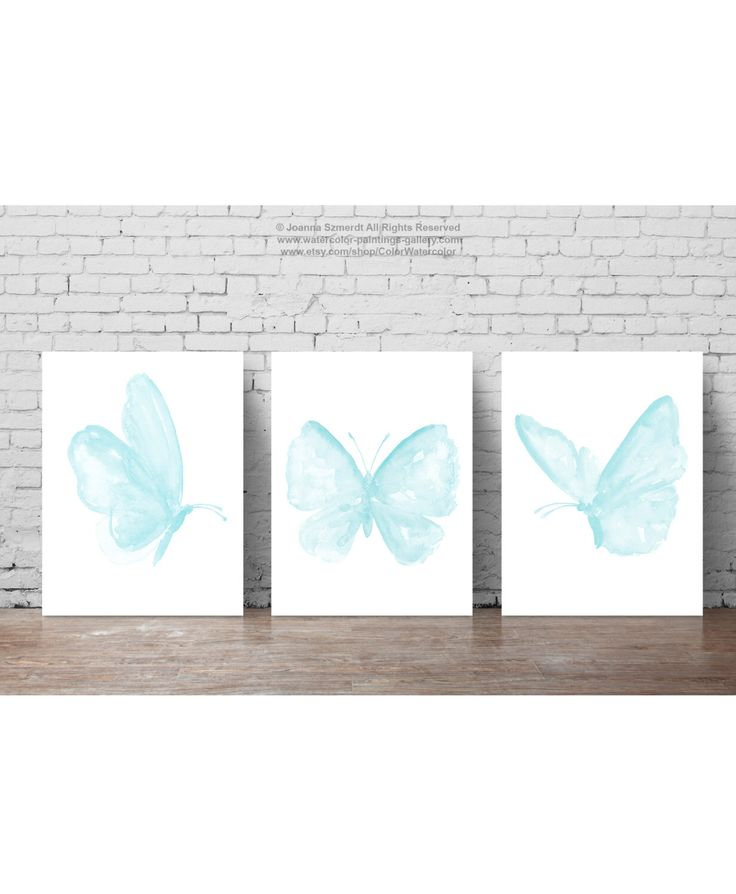 Baby Blue Butterfly set 3 Butterflies Watercolor Painting, Boys Nursery Room Art Print, Minimalist Childrens Wall Decor Animal Illustration by ColorWatercolor on Etsy https://www.etsy.com/listing/295059109/baby-blue-butterfly-set-3-butterflies