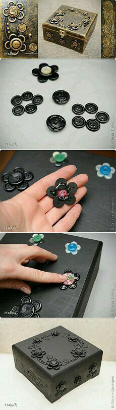 Try with pennies (flowers, buttons, paint, metallic, boxes)