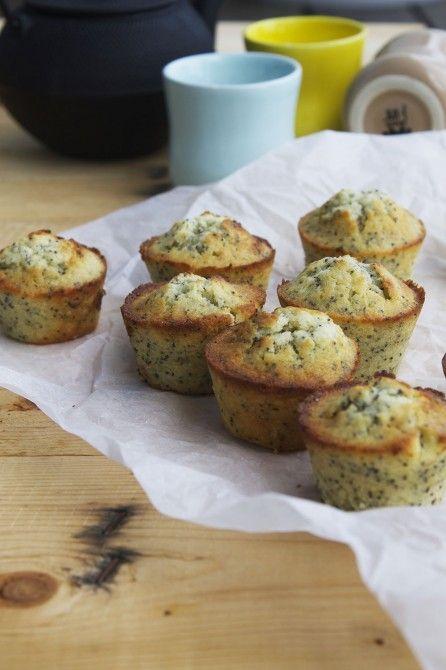 Muffins med lime og blå birkes