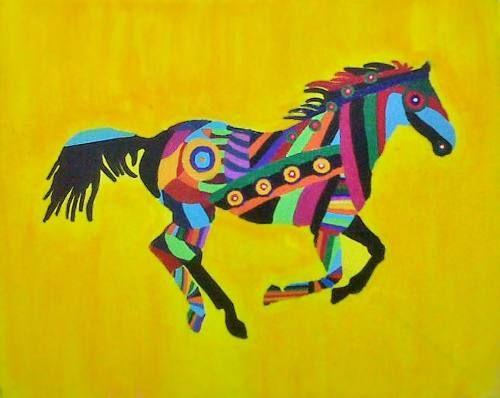 Cuadro pintura figurativa animales tecnica acrilic 4 for Espejo que no invierte la imagen