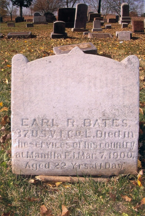 Died in the Spanish-American War and received a purple heart. Bloomdale Cemetery, Trenton, MI.