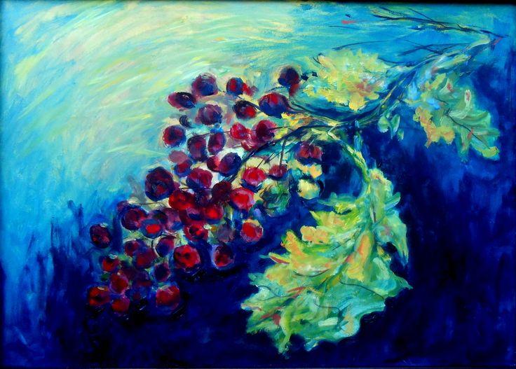Manuel Bessa (óleo sobre tela 70x50) muita uva, pouca parra