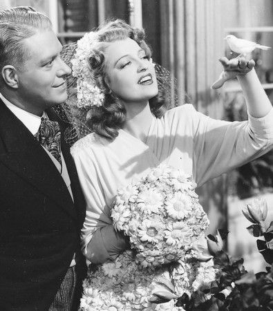 """Nelson Eddy and Jeanette MacDonald in """"I Married an Angel"""" (1942)"""