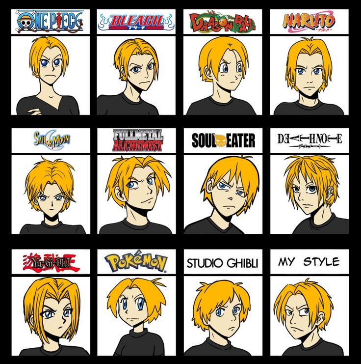 A few anime styles anime style anime funny otaku anime