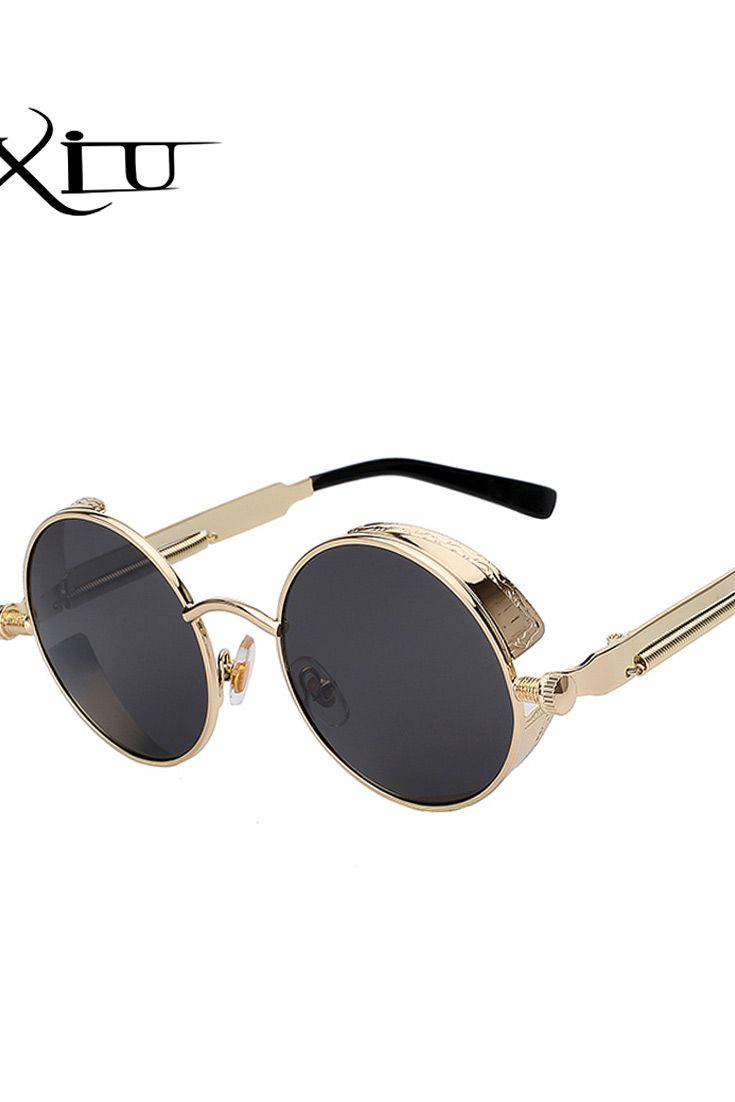 3a72eba7f Round Metal Sunglasses Steampunk Men Women Fashion Glasses Brand Designer  Retro Vintage Sunglasses UV400 in 2019 | Sunglasses Women Fashion |  Womens_fashion ...
