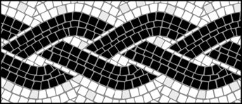 Mosaic stencils from The Stencil Library. Buy Mosaic stencils online. Page 3 of Mosaic border stencil catalogue.