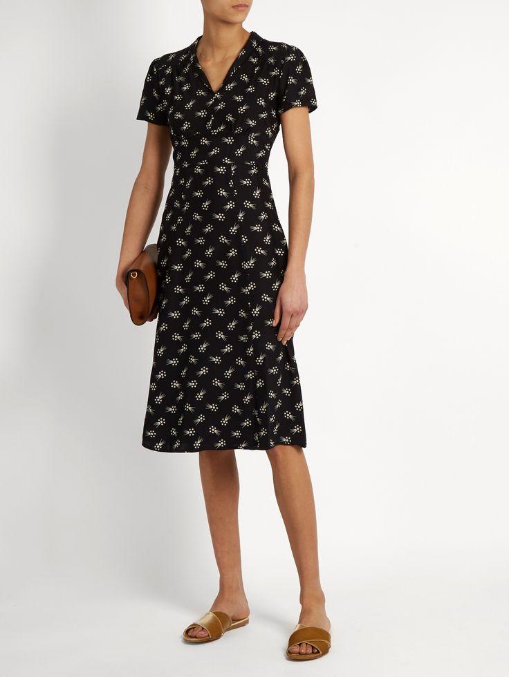 Morgan comet-print silk dress | HVN | MATCHESFASHION.COM