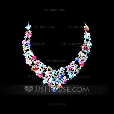 Jewelry - $17.99 - Beautiful Alloy/Rhinestones Women's Jewelry Sets (011028414) http://jjshouse.com/Beautiful-Alloy-Rhinestones-Women-S-Jewelry-Sets-011028414-g28414