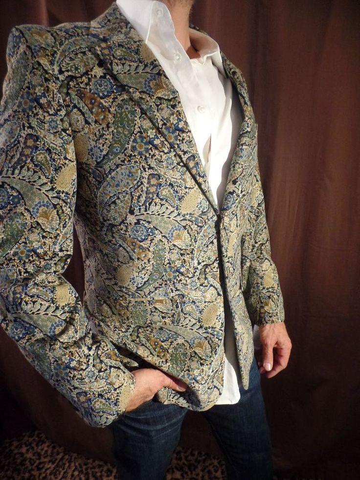 Alan Flusser MENS Paisley Corduroy Jacket Blazer Coat NEW