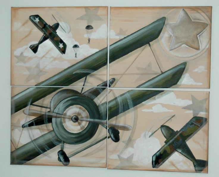 7 best images about airplane wall murals on pinterest for Aviation wall mural