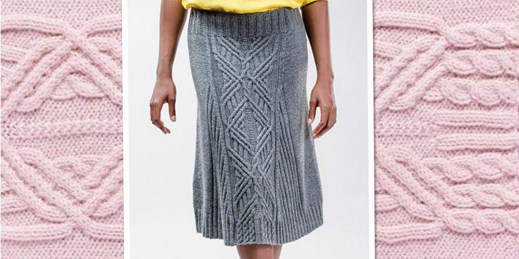 Женская вязаная юбка узором с косами с описанием и схемой от дизайнера Norah Gaughan. Пожалуй одним из популярных видов одежды, созданной своими руками, являются вязаные юбки. Современные тенденции моды требуют в гардеробе модели юбок разных фасонов и разной длины.