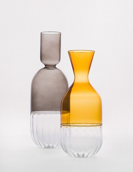 Beyond ergonomics alone, and back to glass, Miss Pitchers by Something Good combines a deep appreciation of the texture and colour of hand-blown glasswork in a comfortably functional pouring vessel.