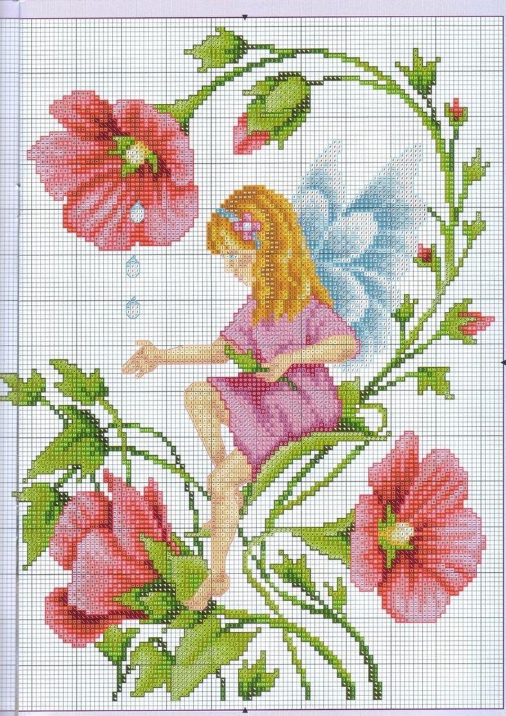 flower fairy cross stitch: