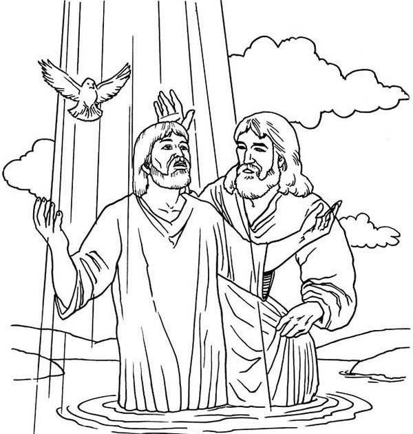 John Baptized Jesus Colouring Pages Jesus Coloring Pages ...