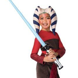 the star wars clone wars childs ahsoka costume medium comes with a cool headpiece that - Clone Wars Halloween Costumes