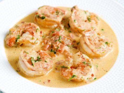 Scampi's in pittige tomatenroomsaus -                         Libelle Lekker
