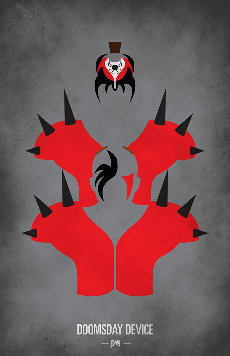 WWF Legends Minimalist Poster: Road Warriors / Legion of Doom