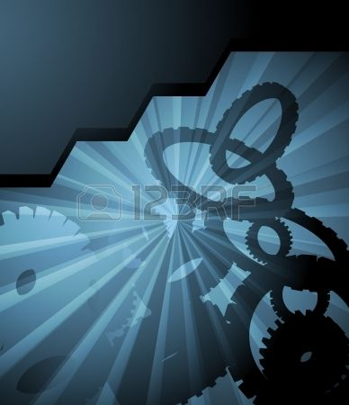 Futuristic high tech abstract vector background for poster Stock Vector