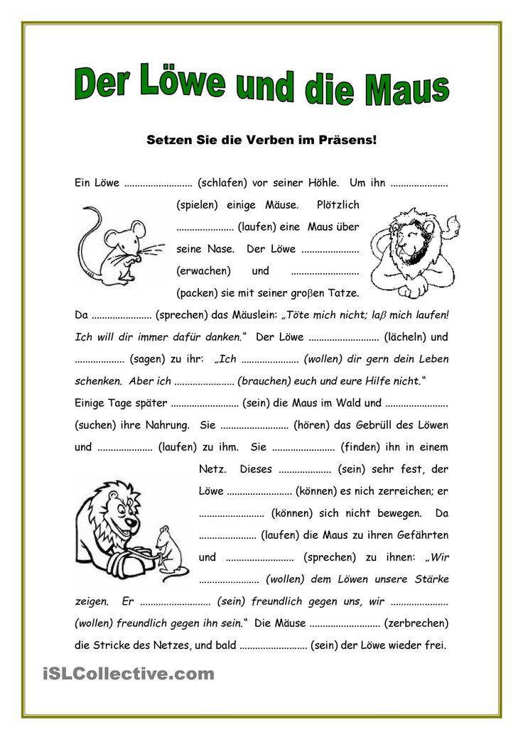 Deutsch / Däitsch Lückentext Kopiervorlage