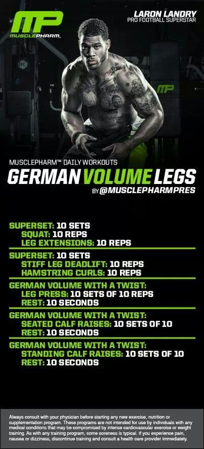 MusclePharm German Volume Legs