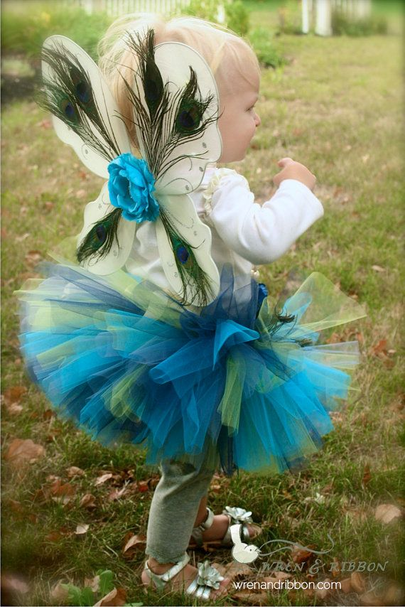 "Halloween Costume - ""Tutu Cute"" Peacock - Girl Toddler Baby Infant Newborn Halloween Costume. $65.00, via Etsy."