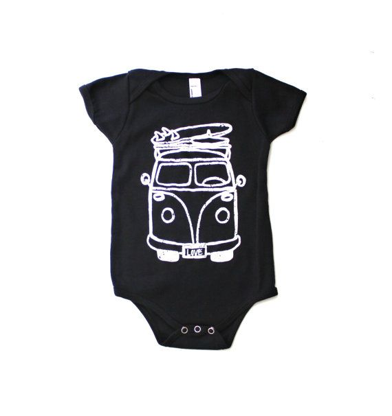 Black Onesie Top Bodysuit Kids Clothing by LittleFootClothingCo