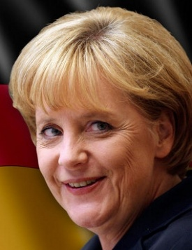 Angela Merkel... Germany's Iron Lady and the one that led the European Union through the financial crisis.