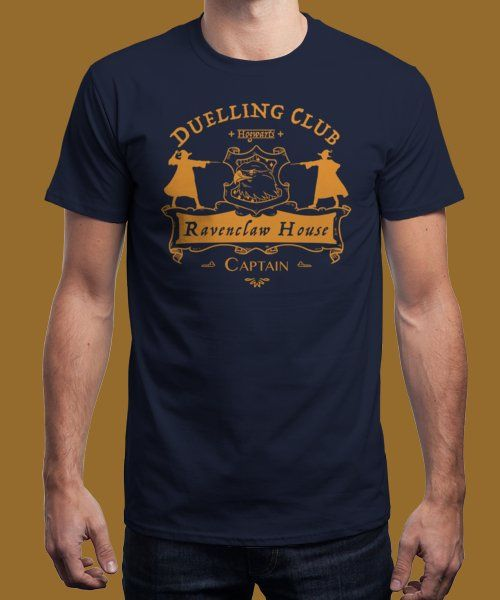 """Ravenclaw Duelling Team"" is today's £8/€10/$12 tee for 24 hours only on www.Qwertee.com Pin this for a chance to win a FREE TEE this weekend. Follow us on pinterest.com/qwertee for a second! Thanks:)"