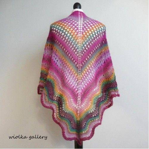 Barwna chusta ażurowa